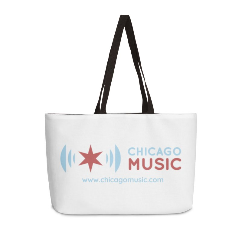 Chicago Music Logo Website Accessories Weekender Bag Bag by Chicago Music's Apparel and Retail Shop