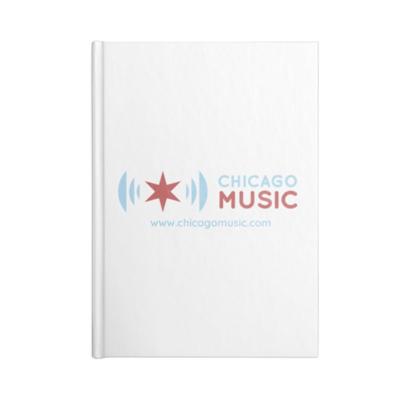 Chicago Music Logo Website Accessories Lined Journal Notebook by Chicago Music's Apparel and Retail Shop