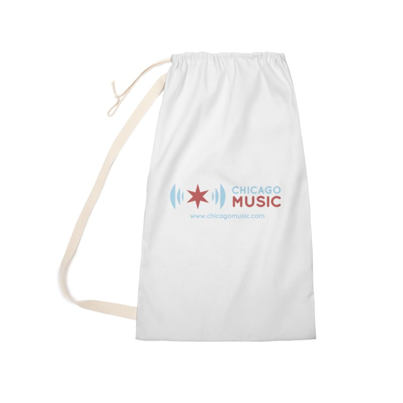 Chicago Music Logo Website Accessories Laundry Bag Bag by Chicago Music's Apparel and Retail Shop