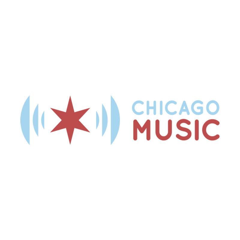 Chicago Music Logo Stacked by Chicago Music's Apparel and Retail Shop