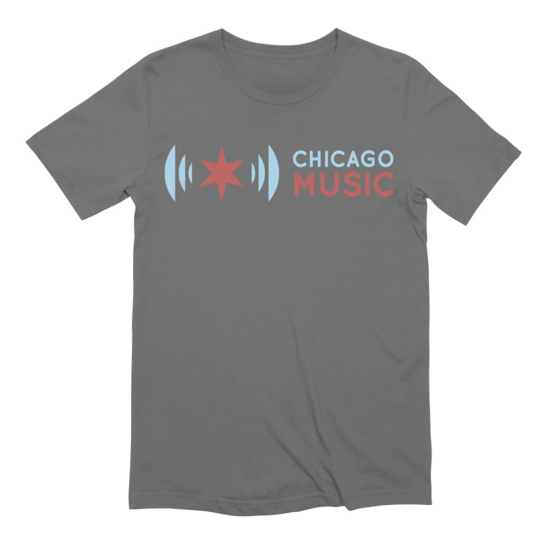 Chicago Music Logo Stacked Men's T-Shirt by Chicago Music's Apparel and Retail Shop