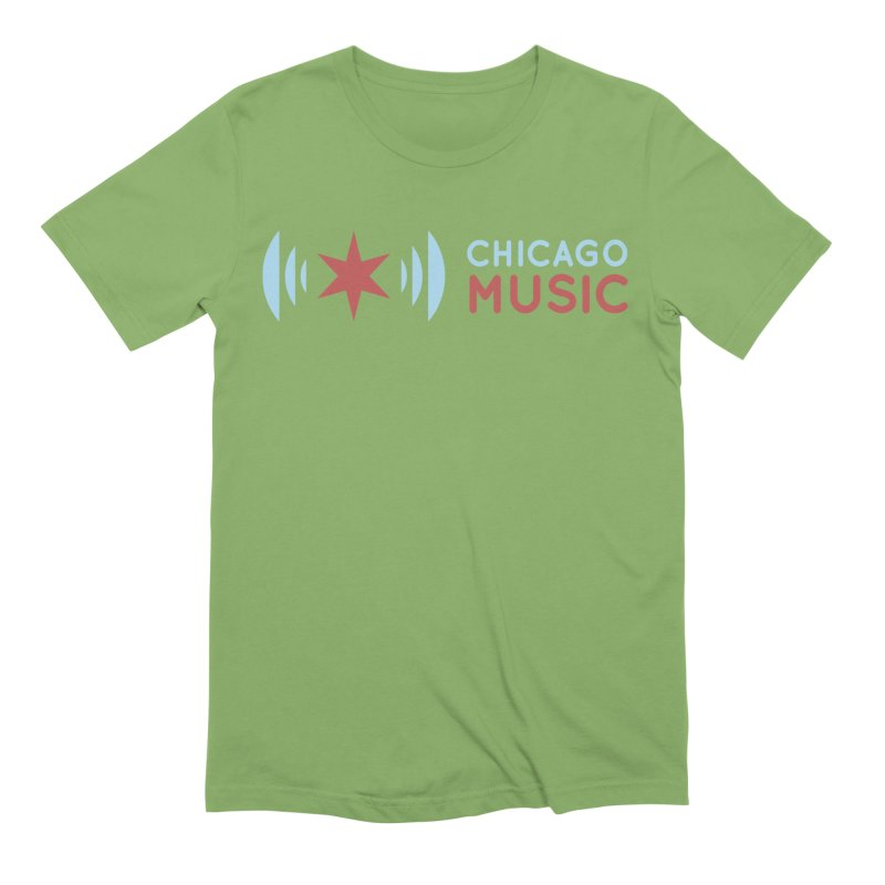 Chicago Music Logo Stacked Men's Extra Soft T-Shirt by Chicago Music's Apparel and Retail Shop
