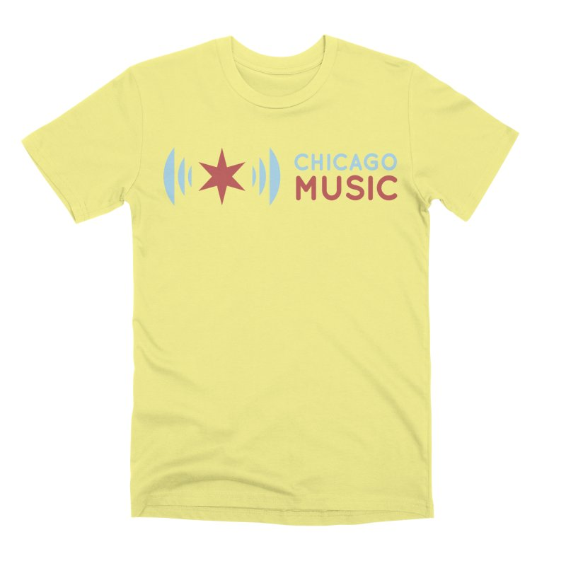 Chicago Music Logo Stacked Men's Premium T-Shirt by Chicago Music's Apparel and Retail Shop