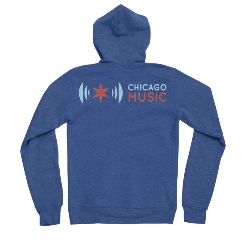 Chicago Music Logo Stacked Men's Sponge Fleece Zip-Up Hoody by Chicago Music's Apparel and Retail Shop