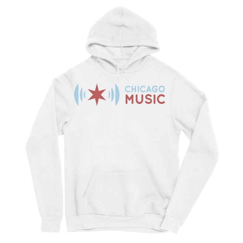 Chicago Music Logo Stacked Men's Sponge Fleece Pullover Hoody by Chicago Music's Apparel and Retail Shop
