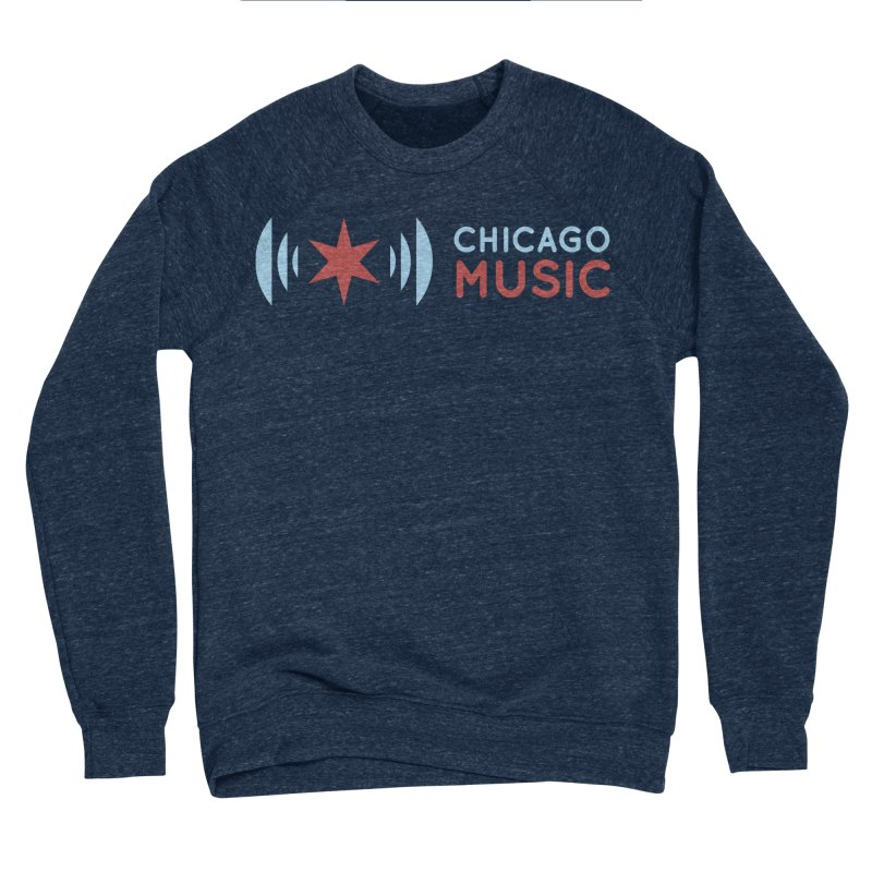 Chicago Music Logo Stacked Men's Sponge Fleece Sweatshirt by Chicago Music's Apparel and Retail Shop
