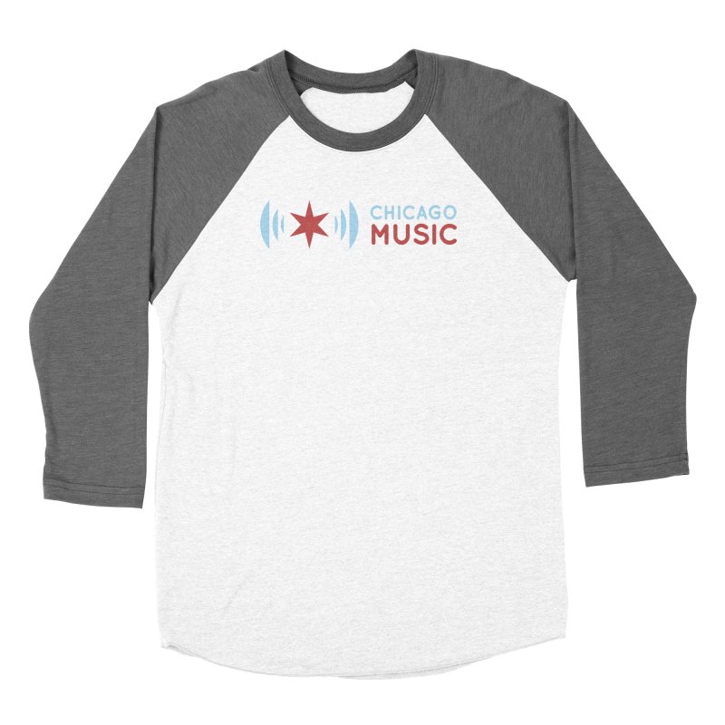 Chicago Music Logo Stacked Women's Longsleeve T-Shirt by Chicago Music's Apparel and Retail Shop
