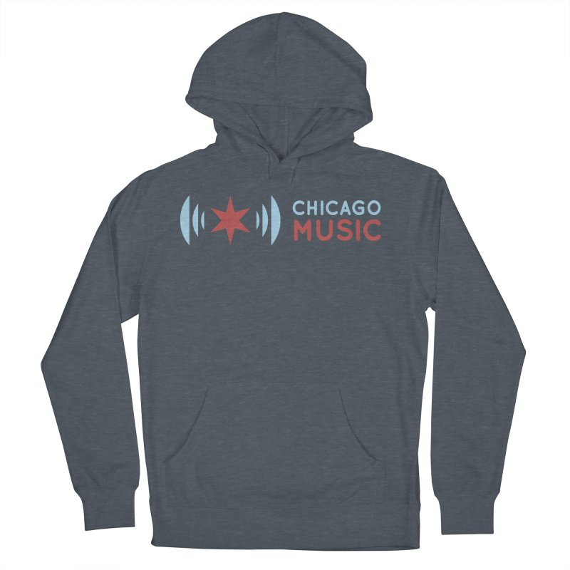 Chicago Music Logo Stacked Women's Pullover Hoody by Chicago Music's Apparel and Retail Shop