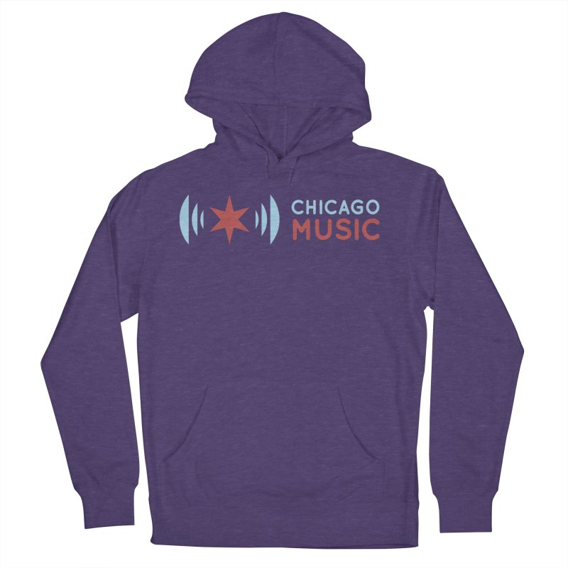 Chicago Music Logo Stacked Men's French Terry Pullover Hoody by Chicago Music's Apparel and Retail Shop