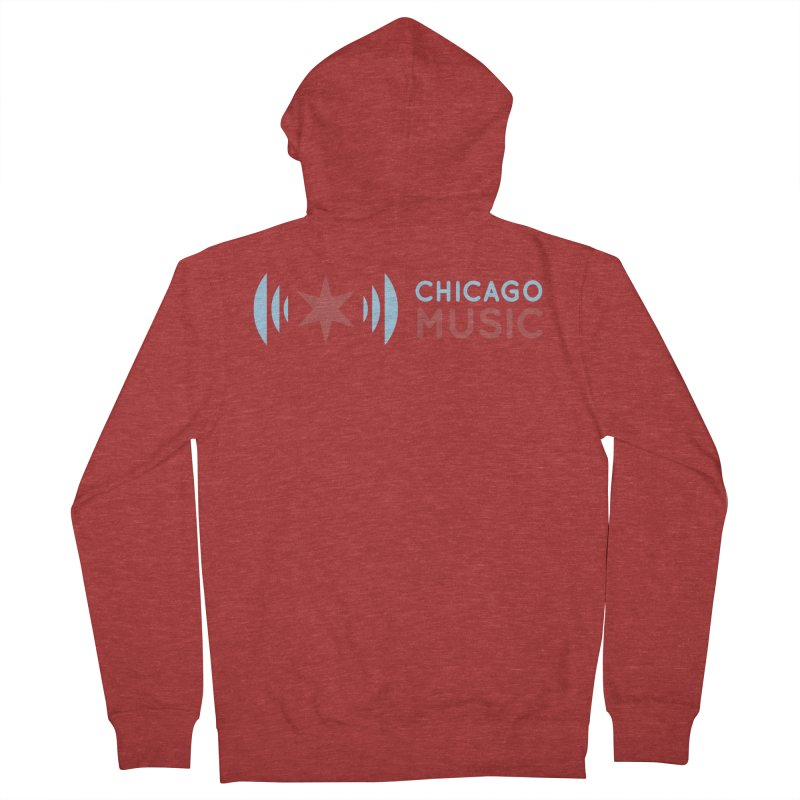 Chicago Music Logo Stacked Men's French Terry Zip-Up Hoody by Chicago Music's Apparel and Retail Shop