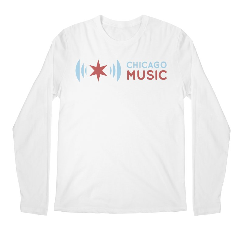 Chicago Music Logo Stacked Men's Regular Longsleeve T-Shirt by Chicago Music's Apparel and Retail Shop