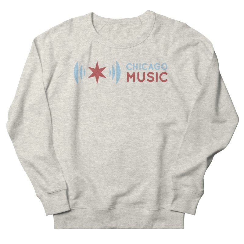 Chicago Music Logo Stacked Men's French Terry Sweatshirt by Chicago Music's Apparel and Retail Shop