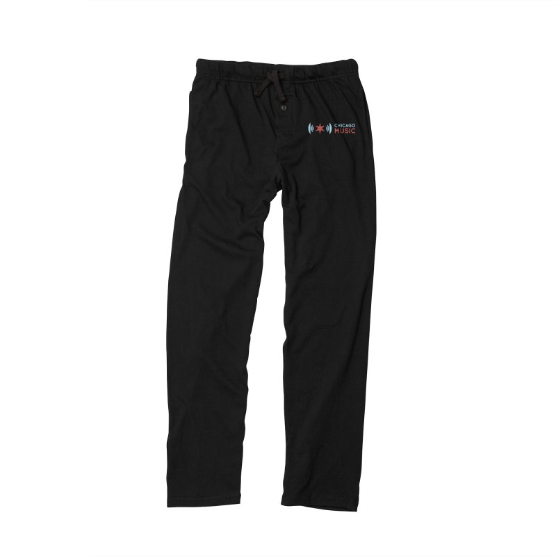 Chicago Music Logo Stacked Men's Lounge Pants by Chicago Music's Apparel and Retail Shop
