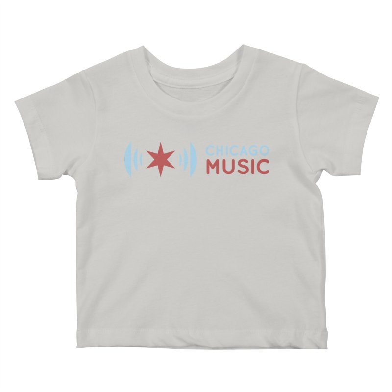 Chicago Music Logo Stacked Kids Baby T-Shirt by Chicago Music's Artist Shop