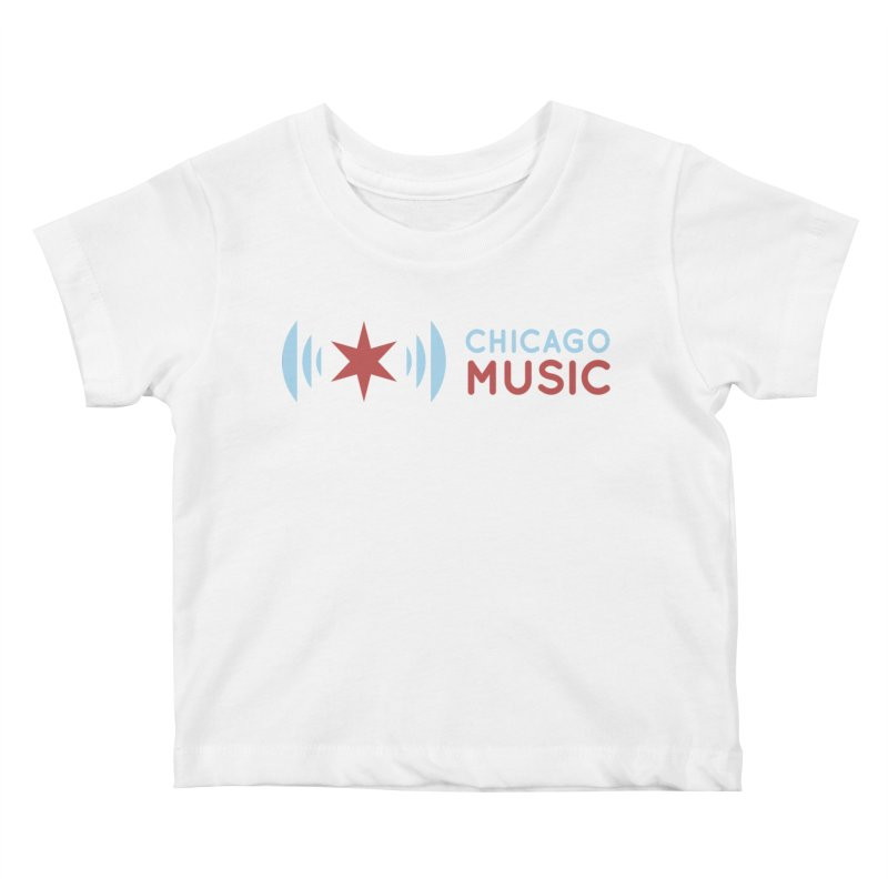 Chicago Music Logo Stacked Kids Baby T-Shirt by Chicago Music's Apparel and Retail Shop