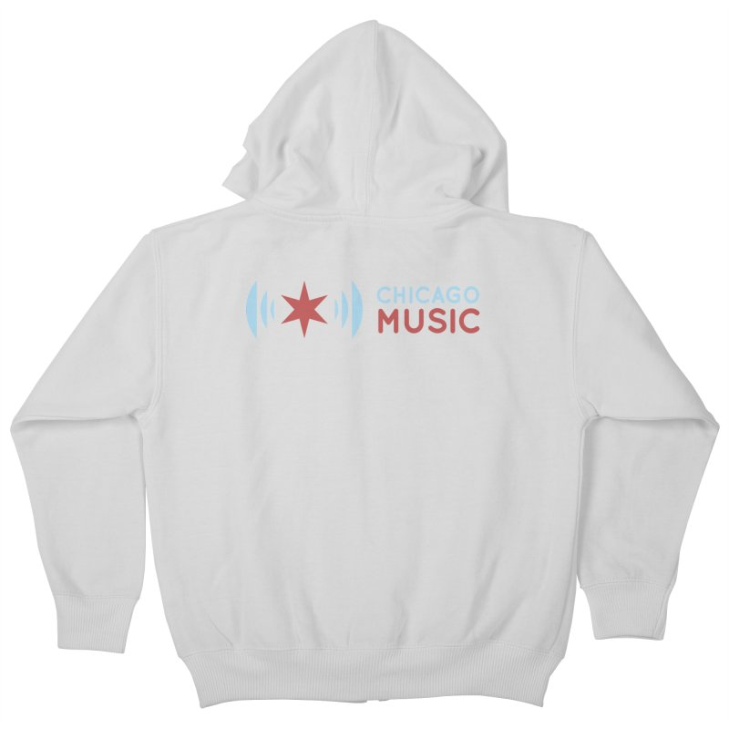 Chicago Music Logo Stacked Kids Zip-Up Hoody by Chicago Music's Artist Shop