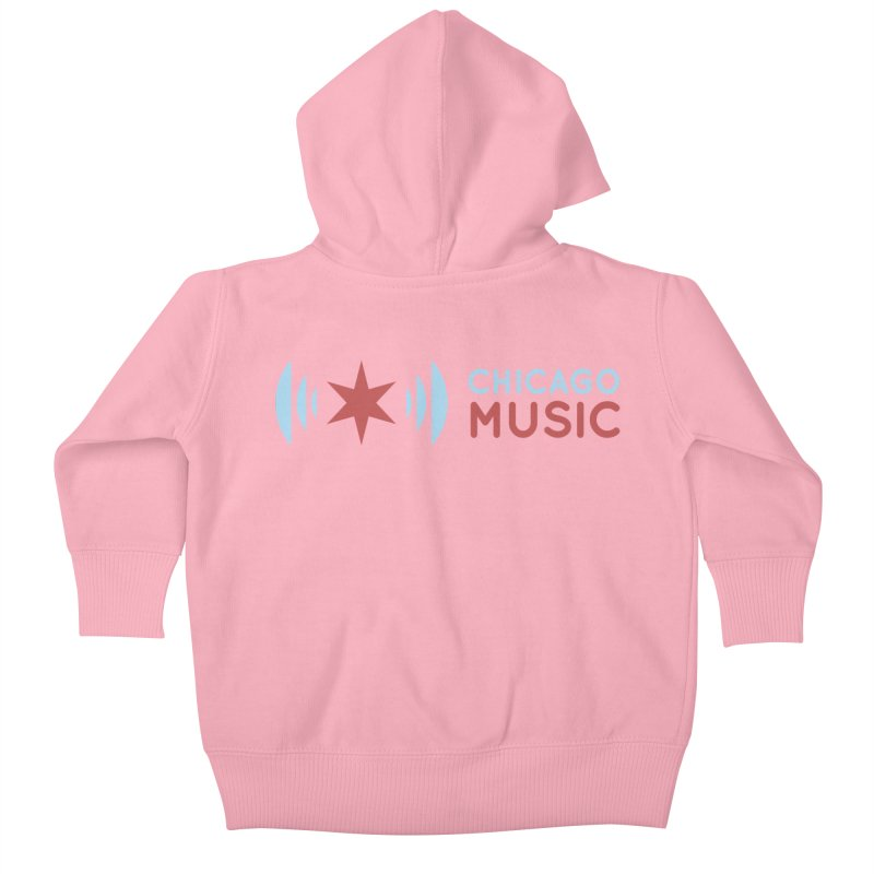 Chicago Music Logo Stacked Kids Baby Zip-Up Hoody by Chicago Music's Apparel and Retail Shop