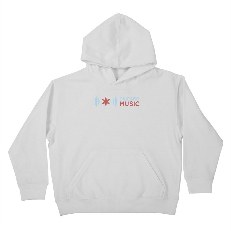 Chicago Music Logo Stacked Kids Pullover Hoody by Chicago Music's Apparel and Retail Shop