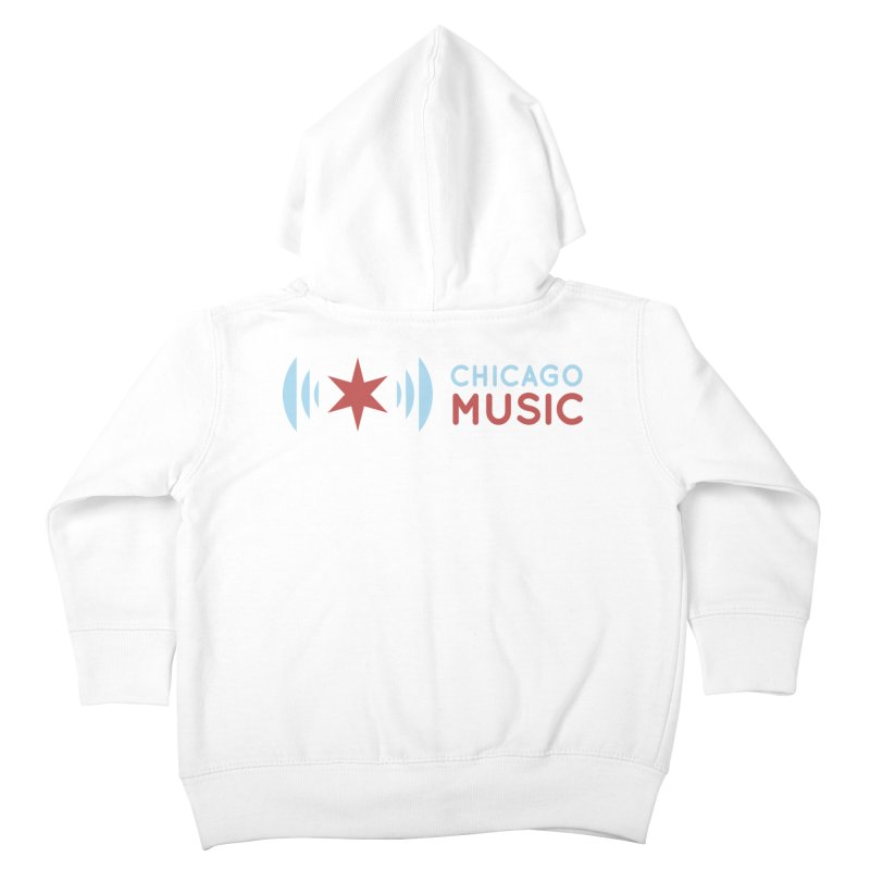 Chicago Music Logo Stacked Kids Toddler Zip-Up Hoody by Chicago Music's Apparel and Retail Shop