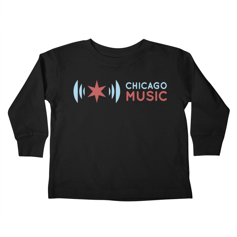 Chicago Music Logo Stacked Kids Toddler Longsleeve T-Shirt by Chicago Music's Apparel and Retail Shop