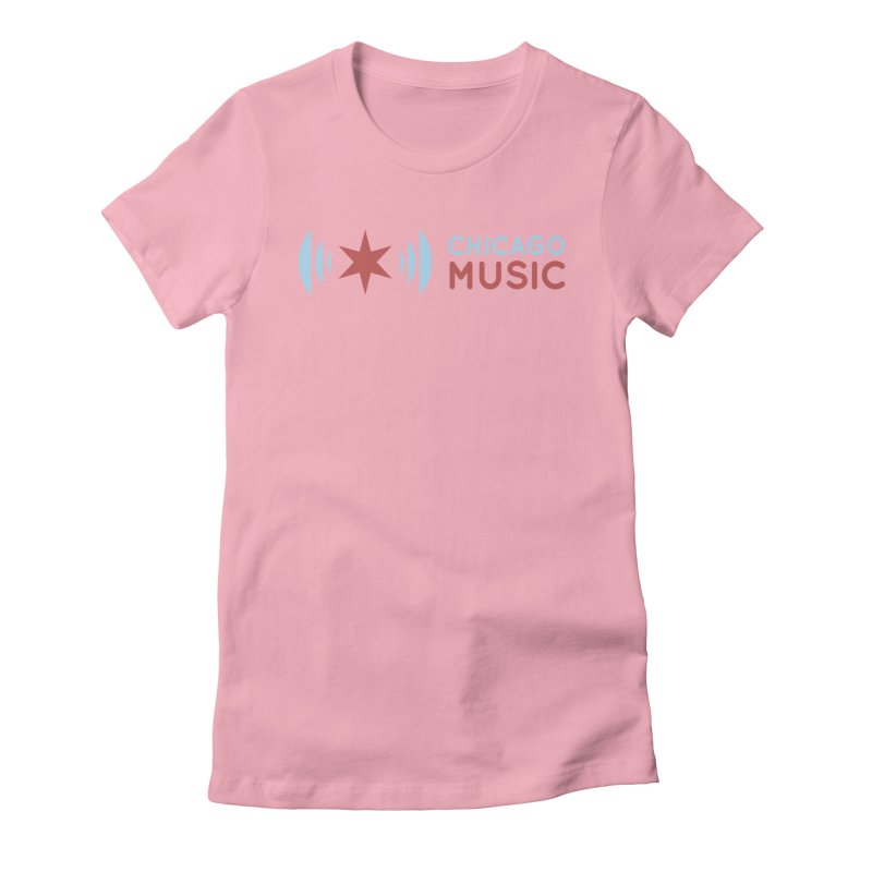 Chicago Music Logo Stacked Women's Fitted T-Shirt by Chicago Music's Artist Shop
