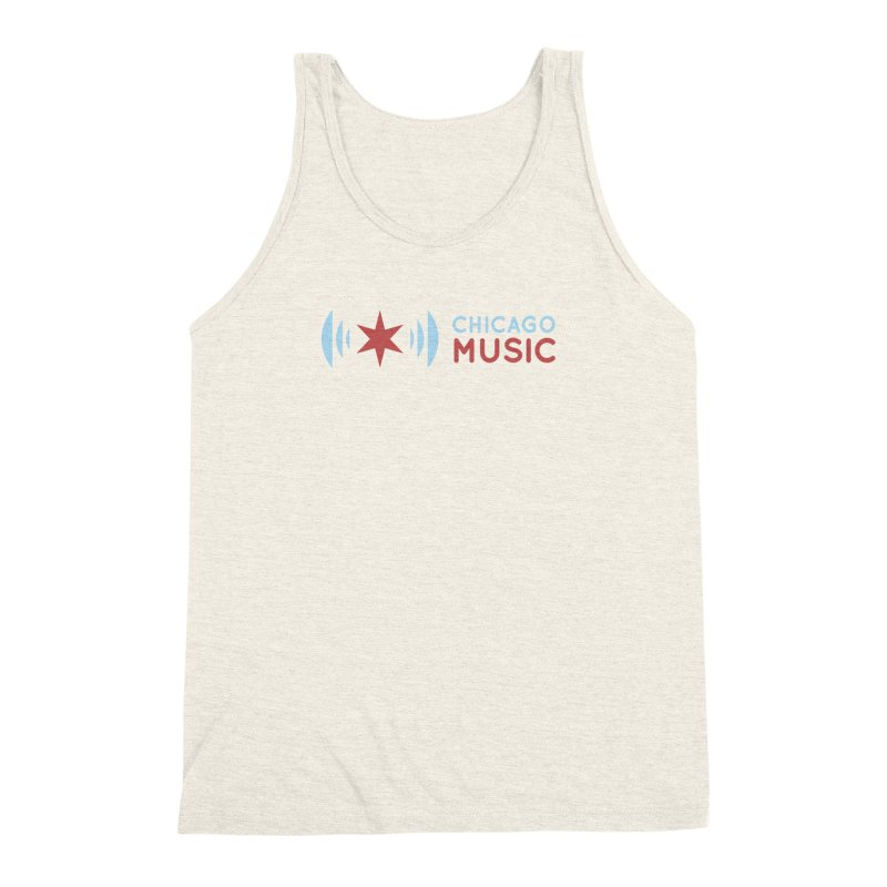 Chicago Music Logo Stacked Men's Triblend Tank by Chicago Music's Apparel and Retail Shop