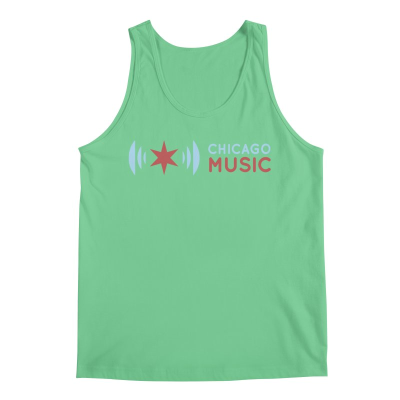 Chicago Music Logo Stacked Men's Regular Tank by Chicago Music's Apparel and Retail Shop