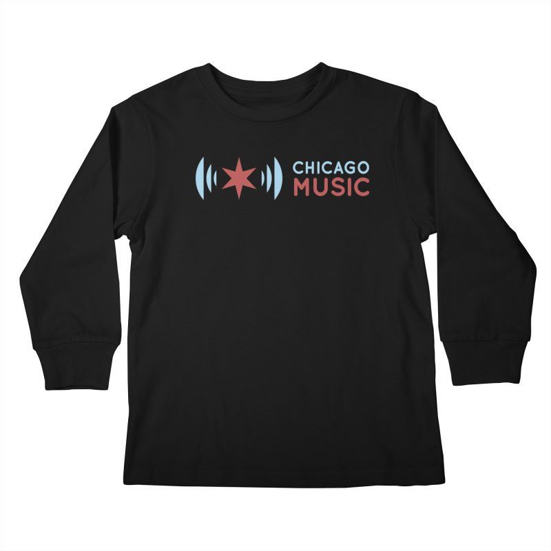 Chicago Music Logo Stacked Kids Longsleeve T-Shirt by Chicago Music's Artist Shop