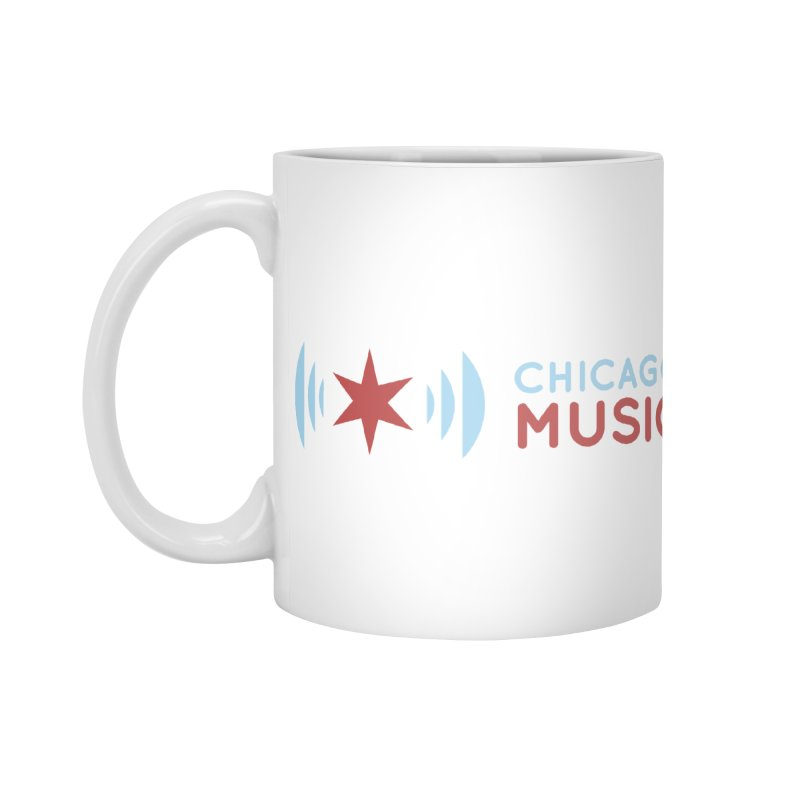 Chicago Music Logo Stacked Accessories Mug by Chicago Music's Apparel and Retail Shop