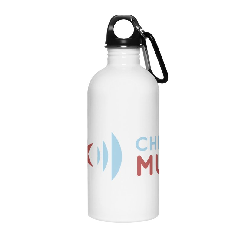 Chicago Music Logo Stacked Accessories Water Bottle by Chicago Music's Apparel and Retail Shop