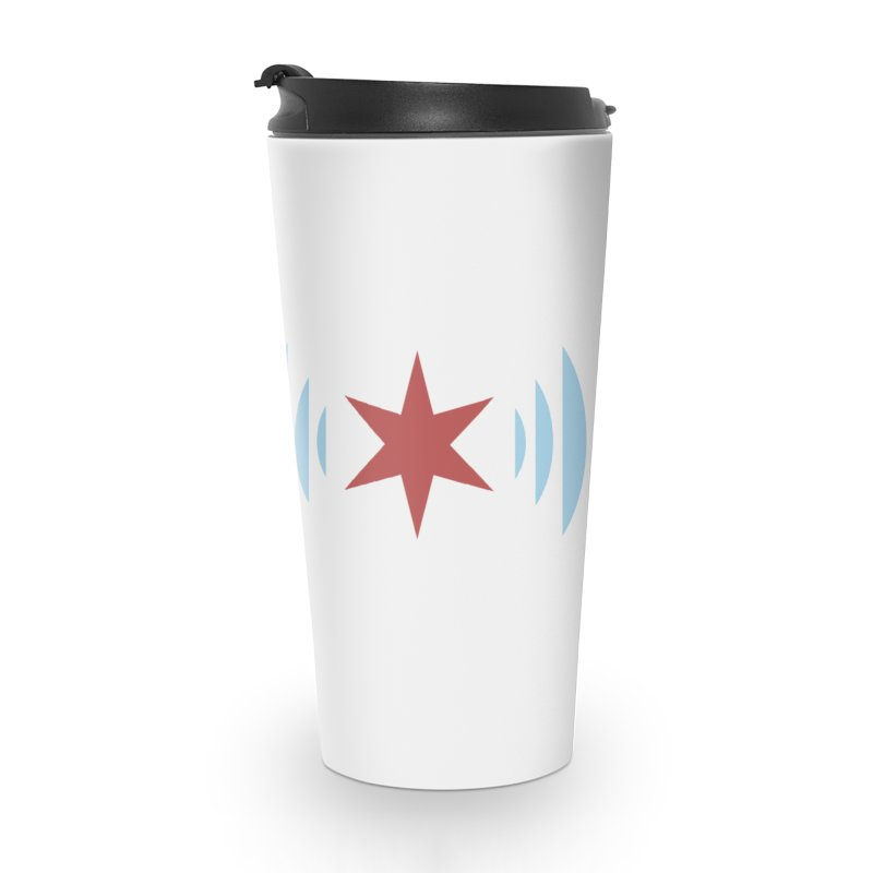Chicago Music Logo Stacked Accessories Travel Mug by Chicago Music's Apparel and Retail Shop