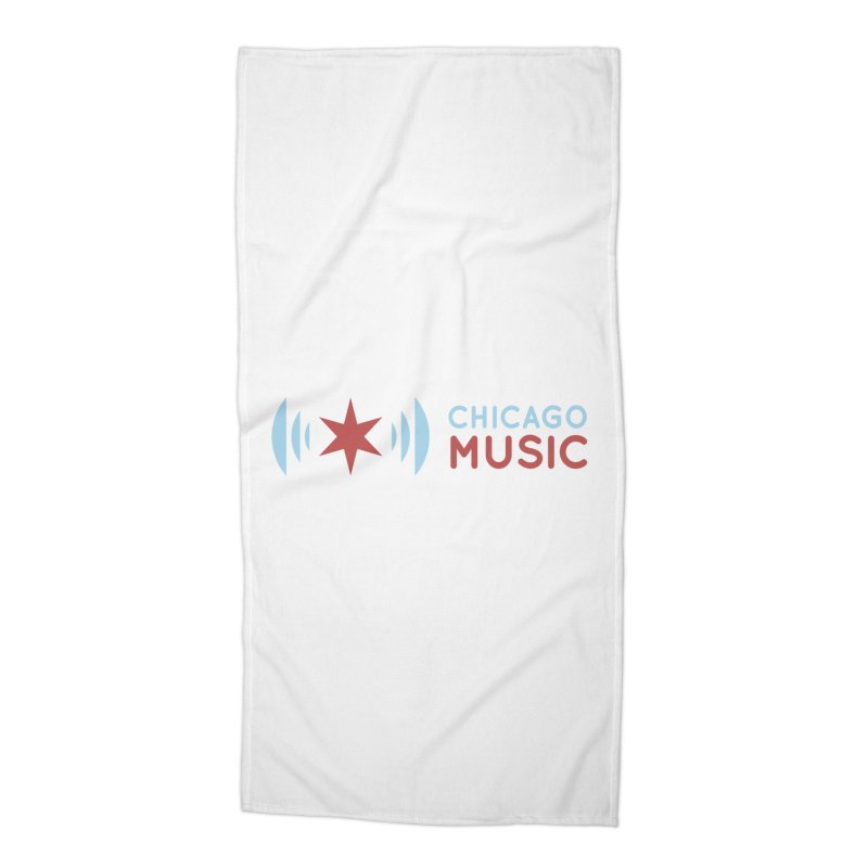 Chicago Music Logo Stacked Accessories Beach Towel by Chicago Music's Apparel and Retail Shop