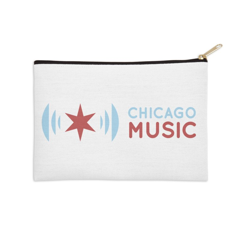 Chicago Music Logo Stacked Accessories Zip Pouch by Chicago Music's Apparel and Retail Shop