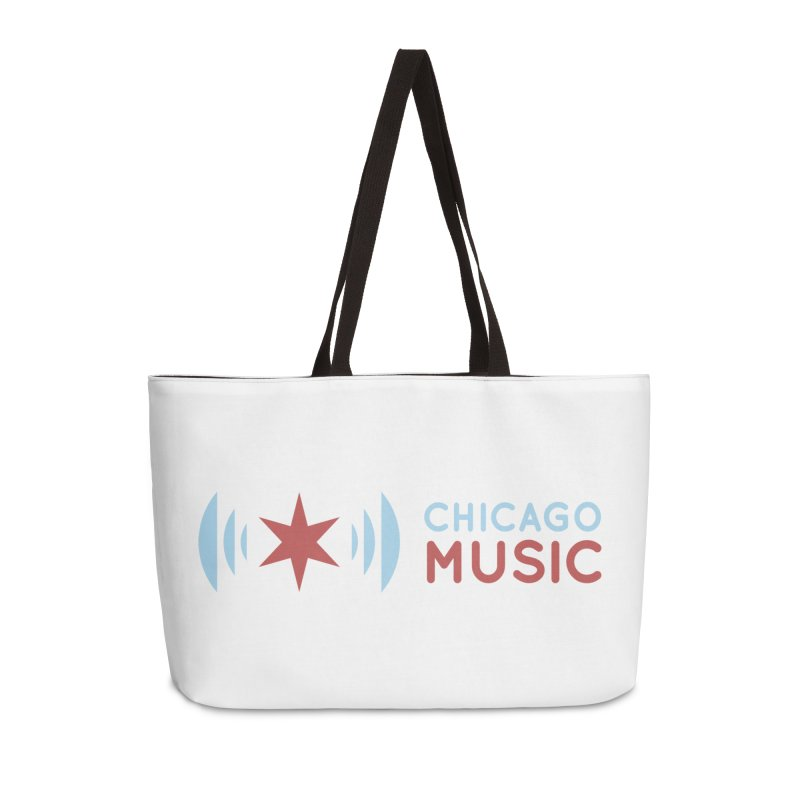 Chicago Music Logo Stacked Accessories Weekender Bag Bag by Chicago Music's Apparel and Retail Shop