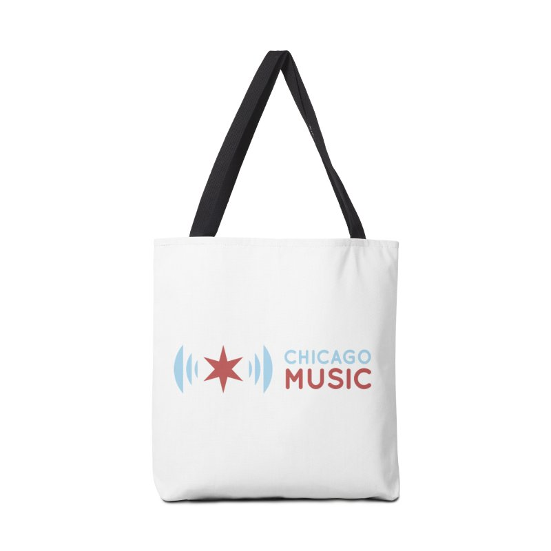 Chicago Music Logo Stacked Accessories Tote Bag Bag by Chicago Music's Apparel and Retail Shop