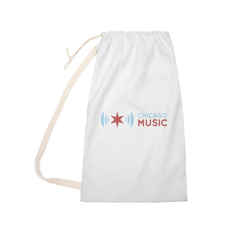 Chicago Music Logo Stacked Accessories Laundry Bag Bag by Chicago Music's Apparel and Retail Shop