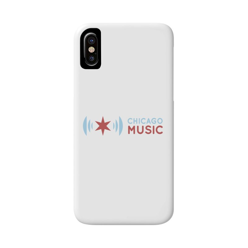 Chicago Music Logo Stacked Accessories Phone Case by Chicago Music's Apparel and Retail Shop