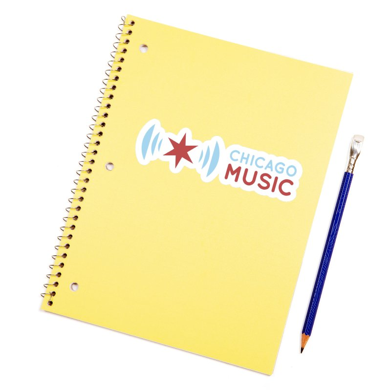 Chicago Music Logo Stacked Accessories Sticker by Chicago Music's Apparel and Retail Shop