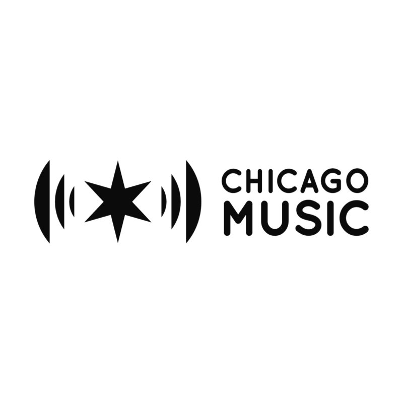 Chicago Music Logo Stack Black Men's Pullover Hoody by Chicago Music's Apparel and Retail Shop