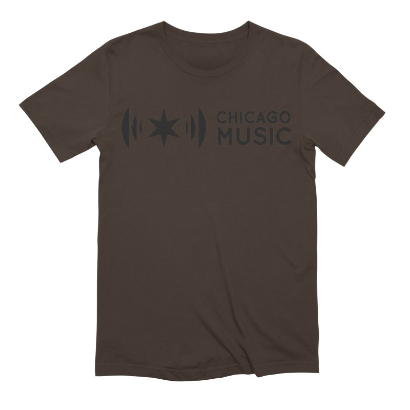 Chicago Music Logo Stack Black Men's Extra Soft T-Shirt by Chicago Music's Apparel and Retail Shop