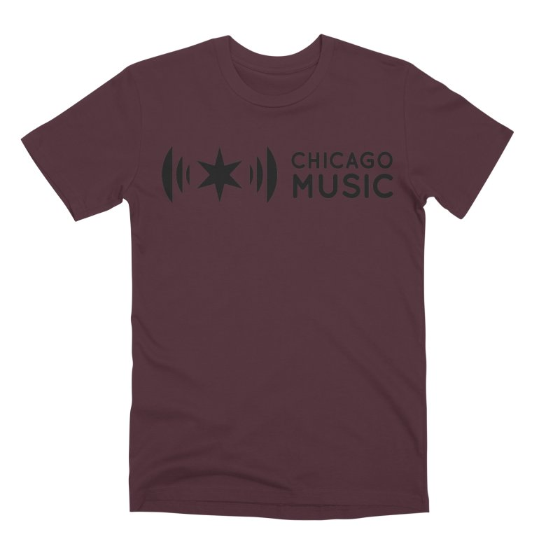 Chicago Music Logo Stack Black Men's Premium T-Shirt by Chicago Music's Apparel and Retail Shop