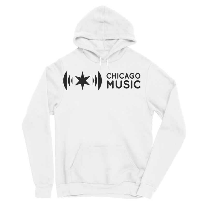 Chicago Music Logo Stack Black Men's Sponge Fleece Pullover Hoody by Chicago Music's Apparel and Retail Shop