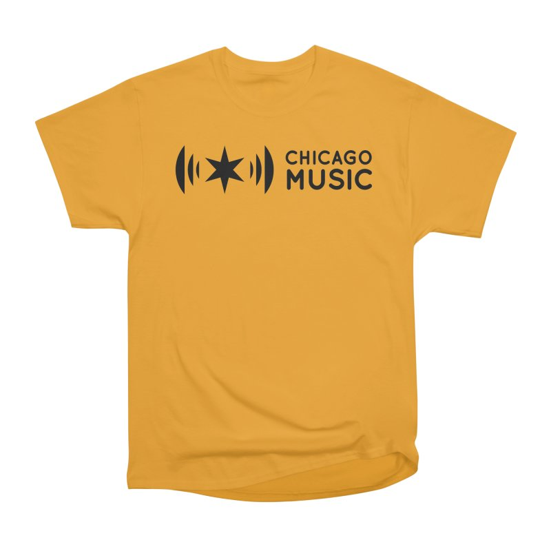 Chicago Music Logo Stack Black Men's Classic T-Shirt by Chicago Music's Apparel and Retail Shop