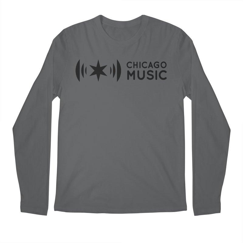 Chicago Music Logo Stack Black Men's Longsleeve T-Shirt by Chicago Music's Apparel and Retail Shop