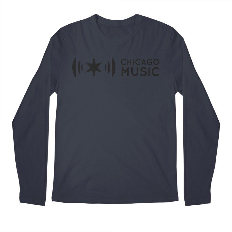 Chicago Music Logo Stack Black Men's Longsleeve T-Shirt by Chicago Music's Artist Shop