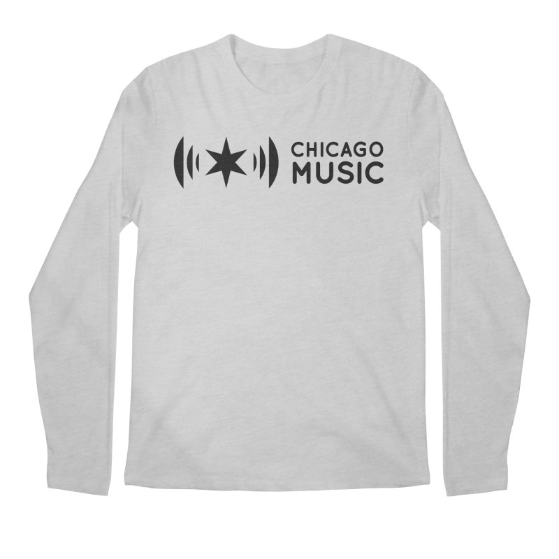 Chicago Music Logo Stack Black Men's Regular Longsleeve T-Shirt by Chicago Music's Apparel and Retail Shop