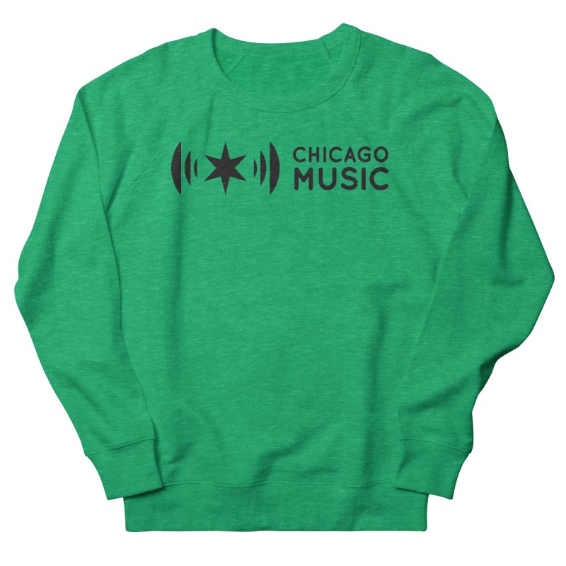 Chicago Music Logo Stack Black Women's Sweatshirt by Chicago Music's Apparel and Retail Shop