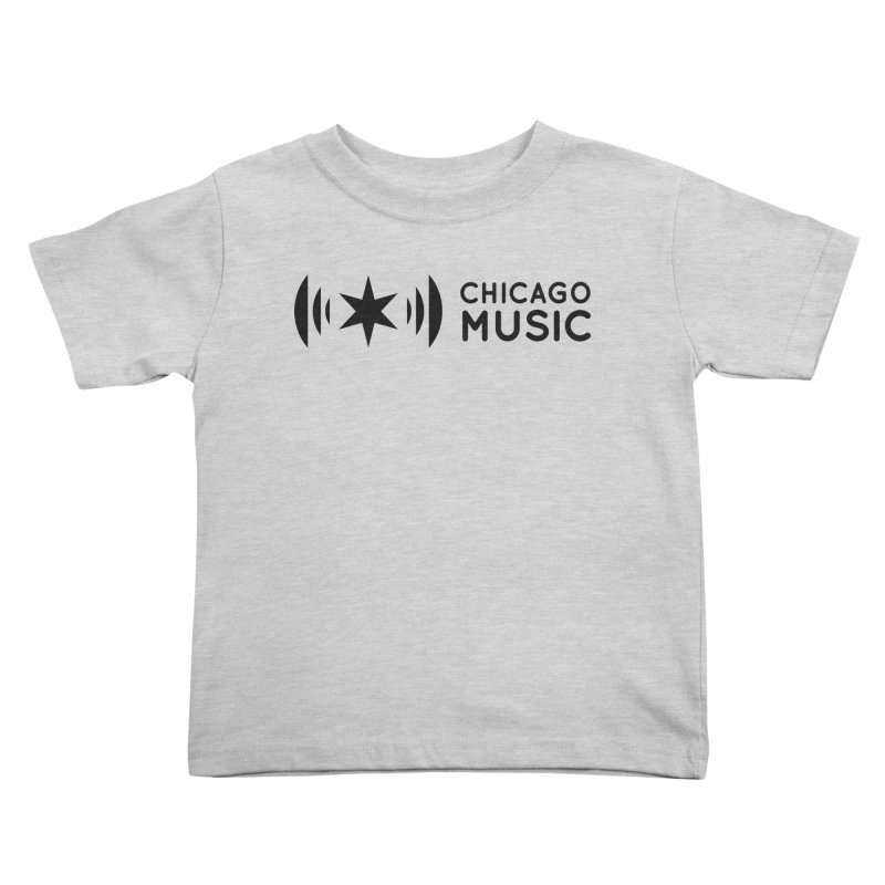 Chicago Music Logo Stack Black Kids Toddler T-Shirt by Chicago Music's Apparel and Retail Shop