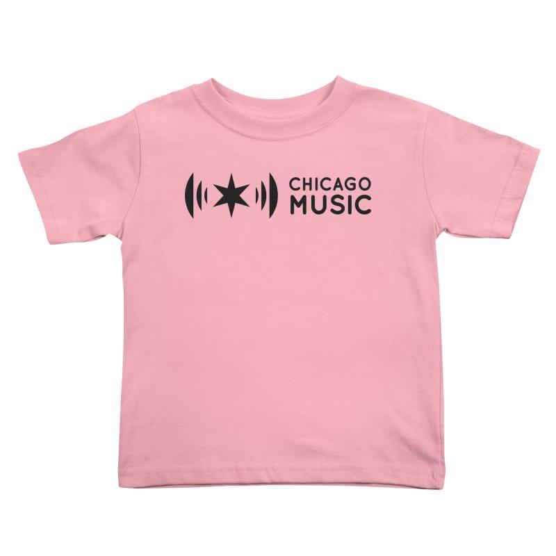 Chicago Music Logo Stack Black Kids Toddler T-Shirt by Chicago Music's Artist Shop