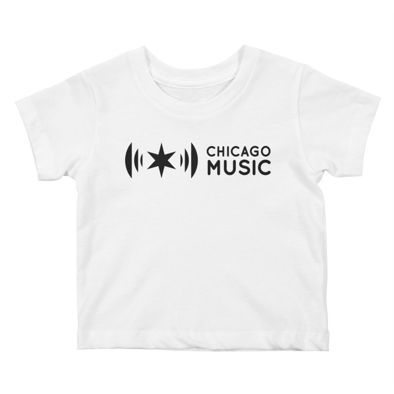 Chicago Music Logo Stack Black Kids Baby T-Shirt by Chicago Music's Apparel and Retail Shop